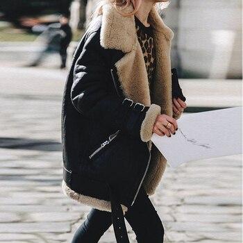 Γυναικείο Ελκυστικό Σακάκι άριστης ποιότητας Τεχνόδερμα Γυναικεία Παλτό Ρούχα MSOW