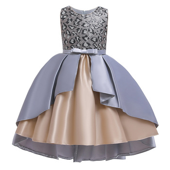 Dress for Girl Costumes Kids Floral Ball Gown Child Cosplay Bella Beauty and The Beast Costume Fancy Party Dress princess bell dress purple mesh beauty and the beast a line cosplay dress kids carnival costume halloween party show vestido