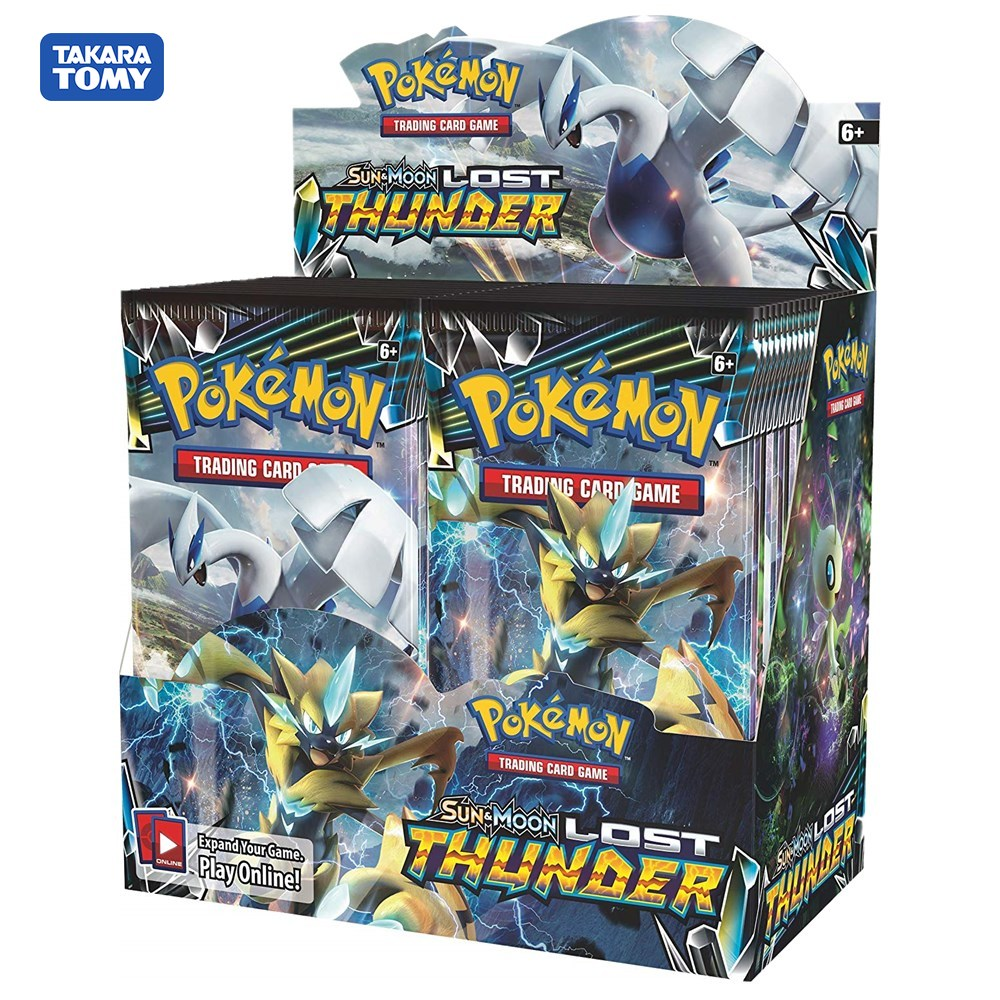 324 Cards Pokeball Monster Pokemon Card Sun & Moon Lost Thunder Booster Box Trading Card Game Kids Collection Toys