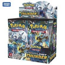 324 Cards Pokemon Card Sun & Moon Lost Thunder Booster Box (Pack of 36) Trading Card Game Kids Collection Toys 4 pack trading card toploaders 3x4inch transparent
