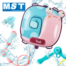 Outdoor Beach Toys For Children Play Water Cartoon Animal Portable Water Spray Guns Backpack Set Summer Toy Kids Birthday Gift