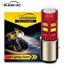 RUIANDSION – ampoule de phare de moto BA20d H6, 6000K, 4300K, 24Leds, 2835SMD, 10V-30V, 12V, 24V, 1000Lm, 1 pièces