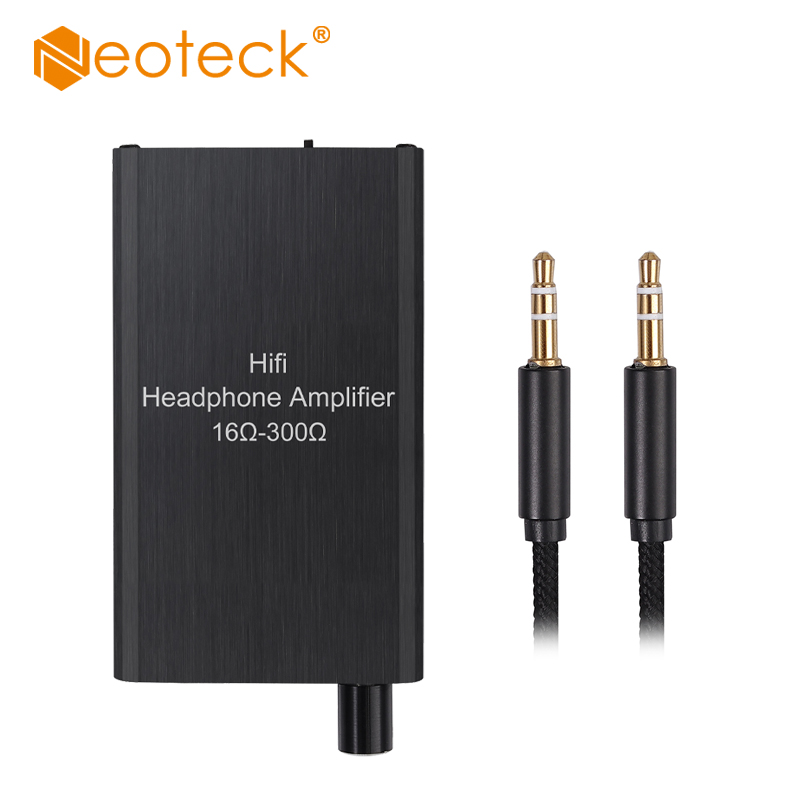 Neoteck Portable 16-300Ohm HiFi Earphone Headphone Amplifier Two-stage Gain Switch Portable Aux In Port For IPhone Android Music