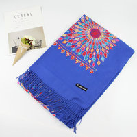 New Cashmere Luxury Scarf Autumn Winter Lady Sunflower Shawl with Ethnic Style High Quality Wool Feather Scarf Shawl Long 2019