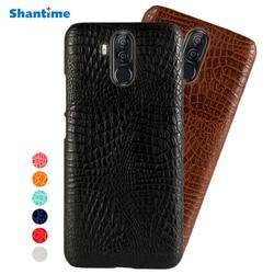 Dla Ulefone Power 3 etui do Ulefone Power 3S krokodyl tekstury futerał na telefon skórzany tylna pokrywa dla Oukitel K6 vernee X torba Case