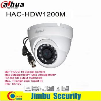 Dahua Camera  HAC-HDW1200M 2MP HDCVI IR Eyeball Camera HD and SD output switchable   IR length 30m, Smart IR IP67, DC12V