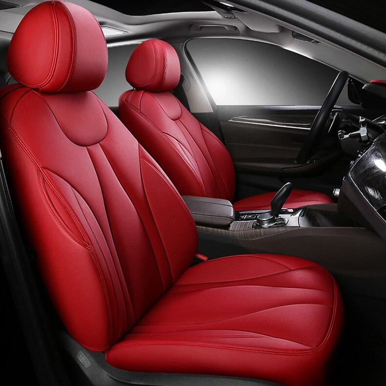 Housse de siège de voiture en cuir de vachette personnalisée 7 sièges pour auto Nissan patrouille y62 y60 y61 Quest tous les 3 rangées 7 sièges housse de siège de voiture coussin