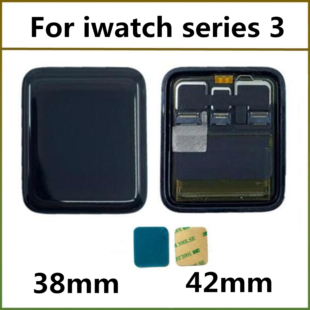 <font><b>42mm</b></font> 38mm <font><b>GPS</b></font> Cellular version LCD Display For <font><b>Apple</b></font> <font><b>Watch</b></font> <font><b>Series</b></font> <font><b>3</b></font> LCD Touch Screen Digitizer Assembly Replacement Parts image