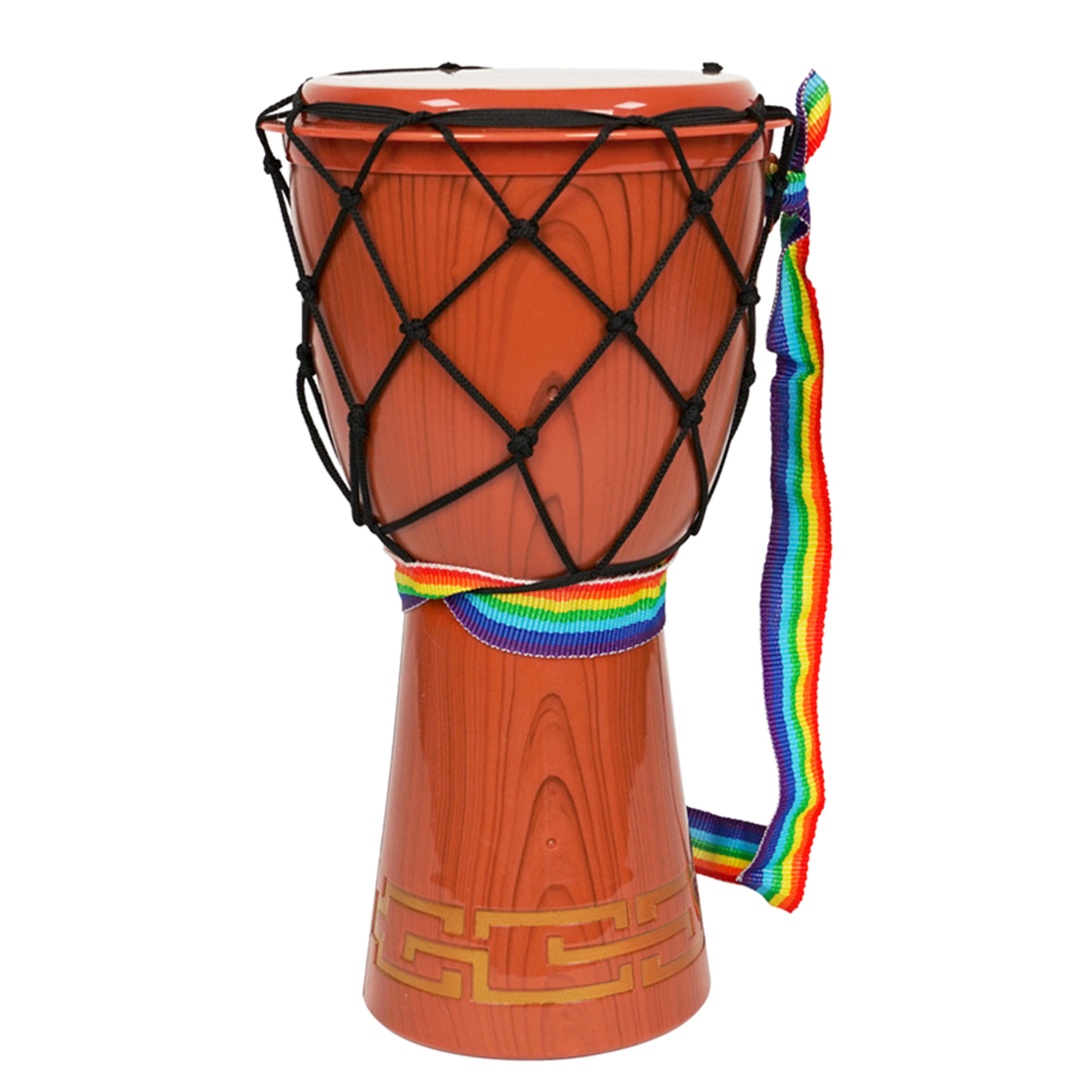 12 Inches Djembe Simulation Hand Drum Early Educational Musical Instruments Toy - Brown