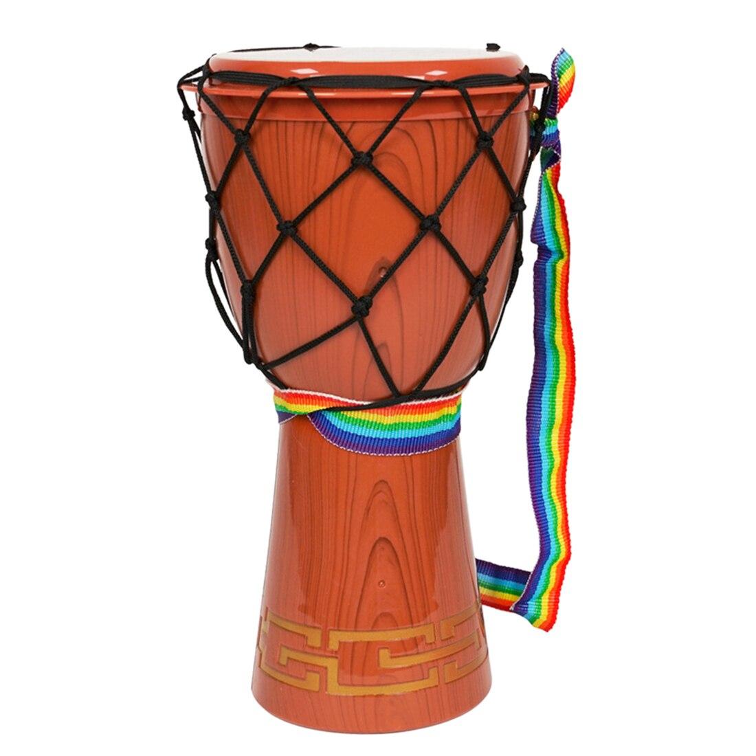 12 polegadas djembe simulacao mao tambor cedo educacional instrumentos musicais brinquedo marrom