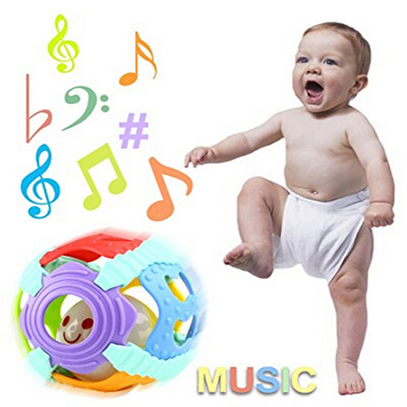 Baby Rattle Toys Jingle Ball Handrattle Safty Ball Toys Kids Puzzle Educational Toys Baby Activity Grasping Toy Hand Bell Rattle