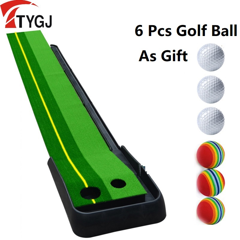 PGM Ball Return 2.5M/3M Indoor Golf Putting Trainer Fairway Portable Golf Practice Putting Mat Golf Putter Training Aids