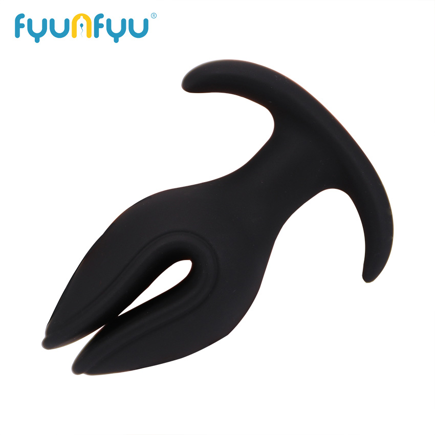 Soft Silicone V Port Anal Plug Toys Opening Butt Plug Speculum Prostate G-Spot Massage Anal Sex Toys For Woman Men