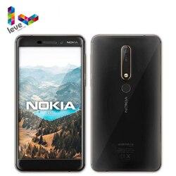 Оригинальный разблокированный смартфон Nokia 6,1 TA1050 с одной SIM-картой, 4G, Android, Snapdragon 630, 3 ГБ, 32 ГБ, Восьмиядерный процессор, экран 5,5 дюйма, 16 МП, 8 М...