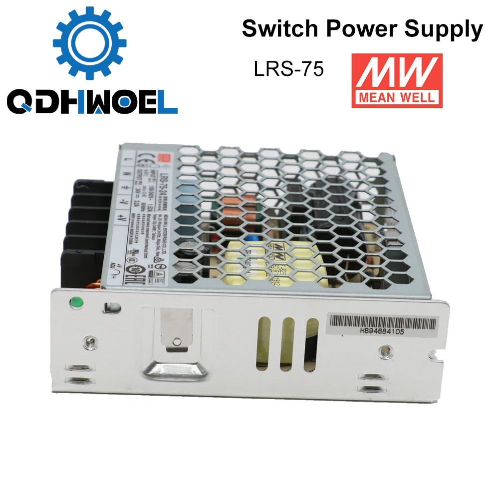 H3ad09c1b6eab4f44ae89b6306a9650feV - Meanwell LRS-75 Switching Power Supply 12V 6A / 24V 3.2A 75W Original MW Taiwan Brand for Laser Controller