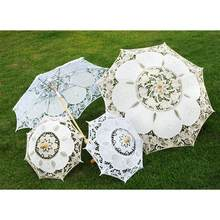 Stylish Western Lace Umbrella Fleur Parasol Decoration Wedding Bride Umbrella(China)