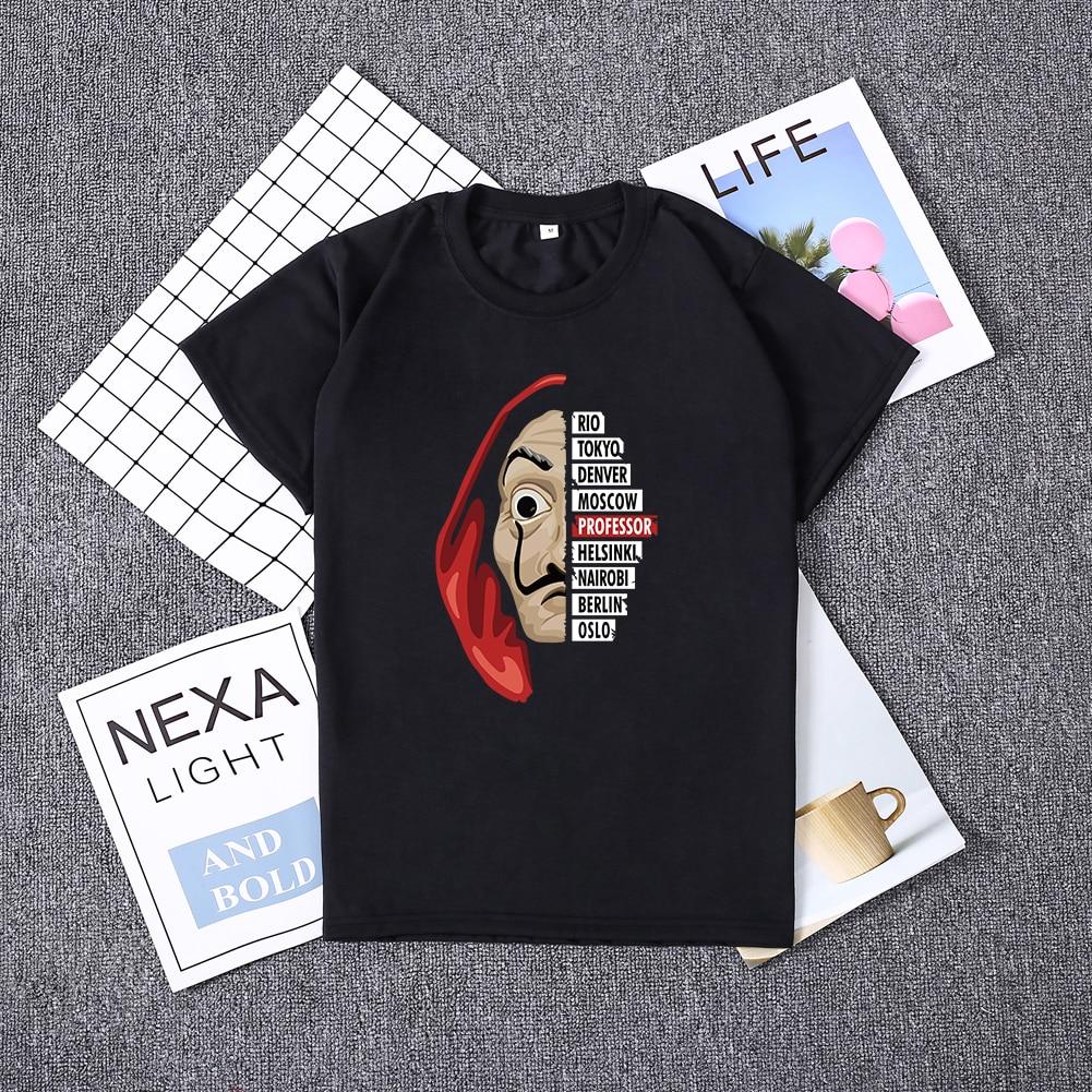 Hillbilly La Casa De Papel Women Tshirt Money Heist The House Of Paper Camiseta T Shirt Dali Mask Casa De Papel Short Sleeve Top