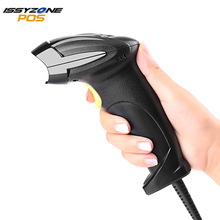 ISSYZONEPOS Handheld 1D Laser CCD Barcode Scanner CCD USB Wired Automatic Bar code Reader Anti-Shock Scanner with Stand usb wired auto induction laser car code scanner black grey