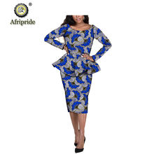 Африканская одежда для женщин рубашки с принтом Дашики + юбки