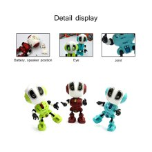 Mini Robot Talking Toy  Kids Toys Robots Travel Body Led Lights BoyS