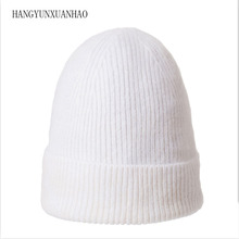 HANGYUNXUANHAO Winter Beanies Women Hat knitted Skullies Wool Female Fashion Casual Ski Caps Thick Warm Hats For Women women s wool knitted beanies hats fashion diamond autumn winter hat female thick warm mask ski cap for women gorras