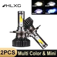 HLXG мини H7 светодиодный H4 luces дальнего автомобилей головной светильник 10000LM 12V H11 светодиодный светильник 9005 HB3 9006 HB4 H8 H9 4300K 5000K 6000K 8000K лампа