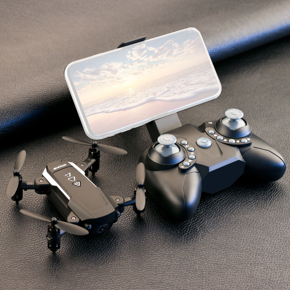 Mini Drone Aircraft-Toys Camera Rc-Quadcopter Altitude-Hold Flight-Time Wifi Foldable title=