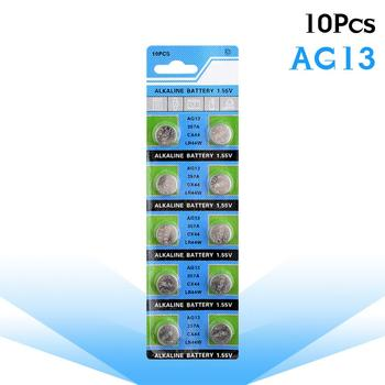 10pcs/pack AG13 1.5V LR44 L1154 RW82 RW42 SR1154 SP76 A76 357A pila lr44 SR44 AG 13 Alkaline Button Cell Coin Battery image