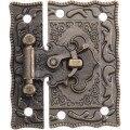 Антикварная деревянная коробка для ювелирных изделий  декоративная защелка  замок с защелкой  замок с защелкой  безопасные сейфы  аппаратны...