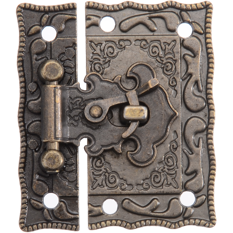 1pcs Iron Antique Jewelry Wooden Box Decorative Latch Hasp Lock For Furniture Hardware Accessories