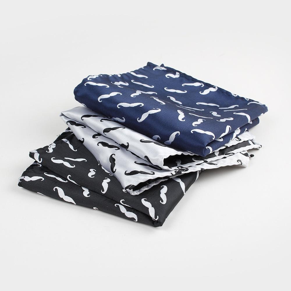 Linbaiway Mens Handkerchief Suit Pocket Towel Women Polyester Cartoon Beard Pocket Square Towel For Business Wedding Custom Logo