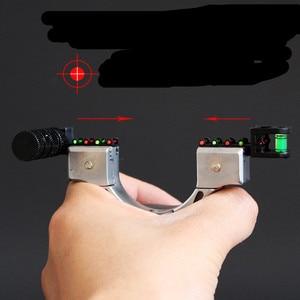 Image 5 - Новая Рогатка SYQT с лазерным прицеливанием, четыре цвета на выбор, Рогатка большой мощности для охоты, Рогатка с плоским кожаным ремешком