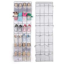 24 bolso sapato espaço porta pendurado organizador rack saco de parede titular do armário de armazenamento sapatos de guarda-roupa meias artigos diversos pendurado organizadores
