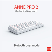 Teclado de computador anne pro2  bluetooth  jogos  mini  cabo
