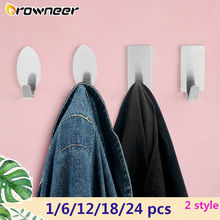 Hanger Storage-Racks Self-Adhesive Space-Saving-Cloth Hooks Coat Towel Hat Wall-Door