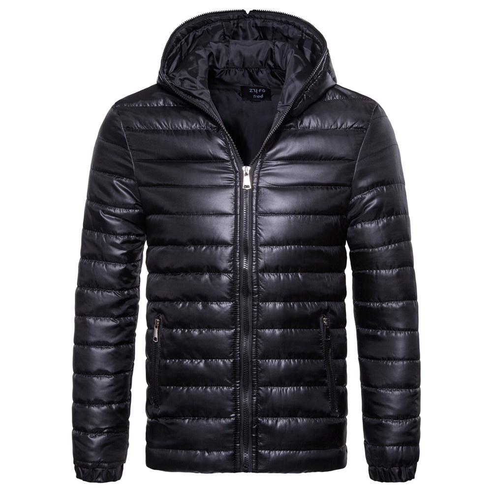 ZOGAA Winter Jacket Men Thicken Warm Parkas Pure Color Hooded Coat Fleece Man's Jackets Outwear Jaqueta Masculina Drop Shipping