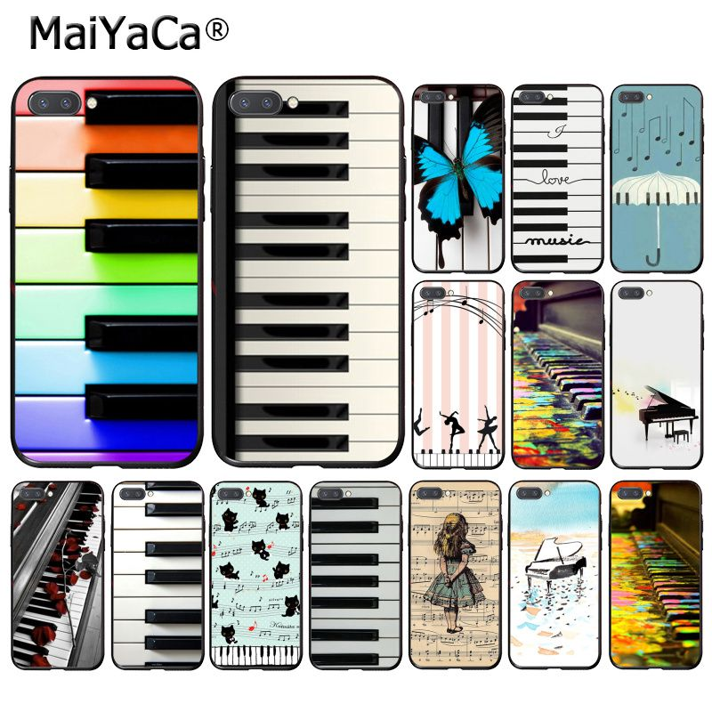 MaiYaCa Colorful white balck Piano Sheet music Butterfly Phone Case for Huawei Honor 8X 9 10 20 Lite 7A 8A 5A 7C 10i 20i View20 image