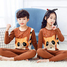 2020 new Autumn Winter Children Pajamas Unicorn Animal Cartoon Sleepwear Kids Clothes Set Pyjamas Baby girl Boys pyjama enfant(China)