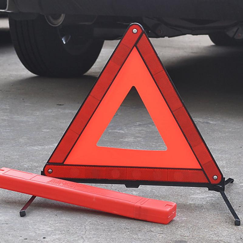 Car Reflective Triangle Tripod Emergency Warning Sign Vehicle Stop Sign Night Road Safety Warning Tripod Reflective Accessories