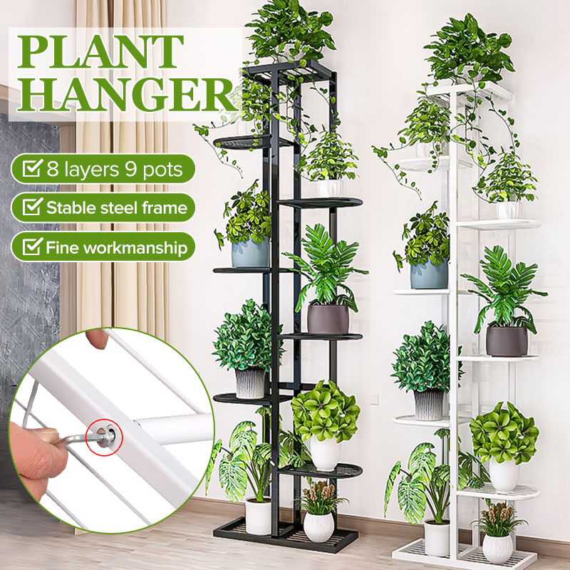 Shelves Flower-Rack Plant-Stand Bonsai-Display Patio Balcony Iron Garden Multi 8