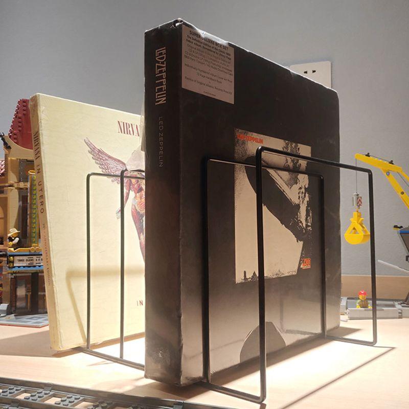 Metal LP Vinyl Record Display Shelf Turntable Storage Shelf Exhibit Stand Holder DXAC