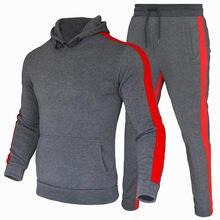 Men Tracksuit Pants Jogging Suit 2 Pcs Tracksuit Autumn Winter Men Outfits Sportswear Running Sweatsuit Loose Fit Clothes Men