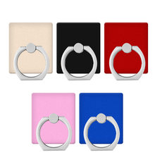 Finger Ring Mobile Phone Smartphone Stand Holder For iPhone 11 Huawei Samsung Cell Smart Square Phone Holder Car Mount Stand(China)