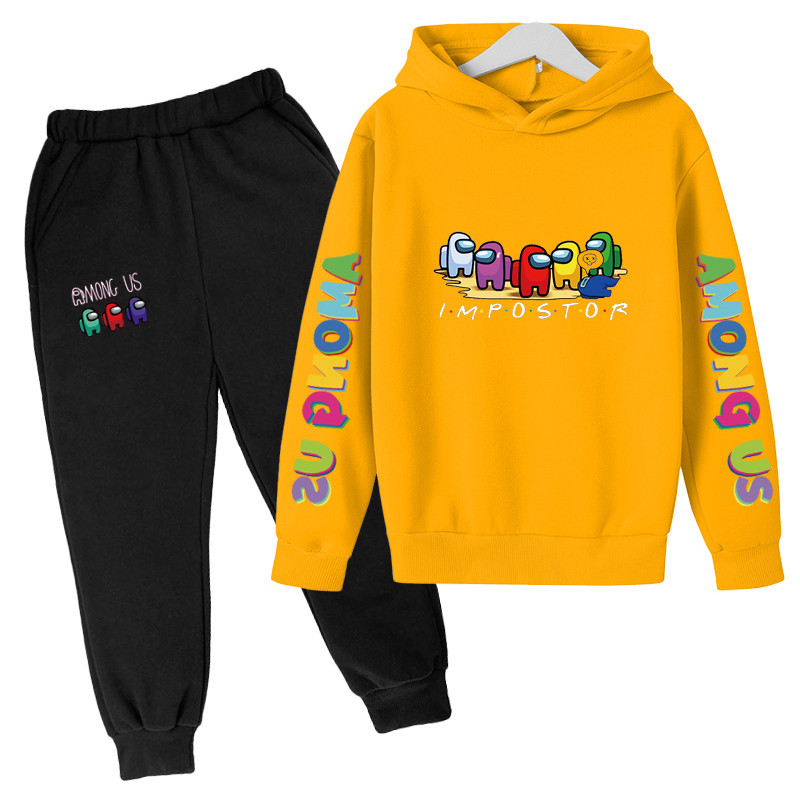4-14 Y Girls Clothing Among Us Sets Autumn Winter Boys Girls Clothes Printing Outfit Kids Print Tracksuit For Boys Children Set 1