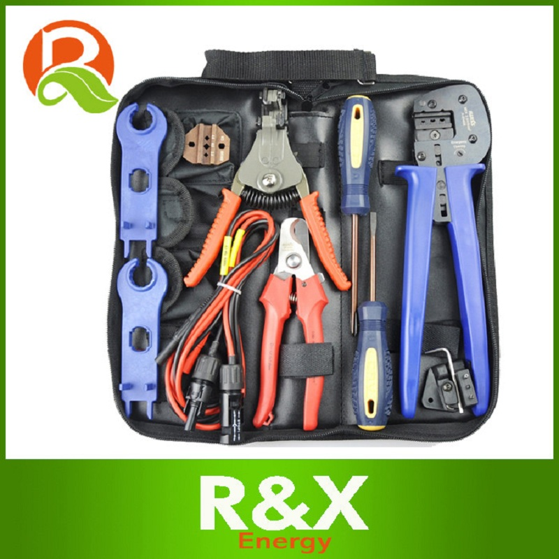 R X MC4 MC3 Solar Connector Suit for 2 5 4 6mm2 crimping stripping cutting Tool Screwdriver Spanner Test Cable in Pliers from Tools