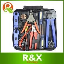 mc4 mc3 crimper solar pv crimping tool kits for 2 5 6 0mm2 mc3 mc4 connectors solar tool set R&X MC4 MC3 Solar Connector Suit for 2.5/4/6mm2 crimping/stripping /cutting Tool Screwdriver Spanner Test Cable