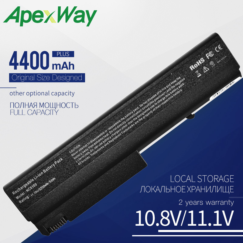 ApexWay Laptop Battery For HP COMPAQ NC NX 6110 6220 6320 6325 HSTNN-UB28 HSTNN-C31C HSTNN-I12C HSTNN-I27C HSTNN-I36C PB994ET