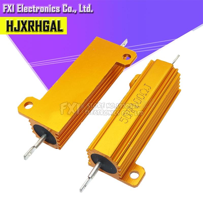 RX24 50W Aluminum Power Metal Shell Case Wirewound Resistor 0.01 ~ 100K 0.1 0.5 1 1.5 2 6 8 10 20 100 150 200 300 1K 10K Ohm