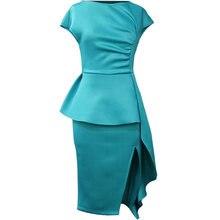 Зеленые Сексуальные облегающие вечерние платье для женщин с