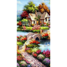 Diamond Painting Landscape full Set scenic cottage Round Rhinestones Picture Embroidery Sale Diamond Mosaic  Decor DropShip